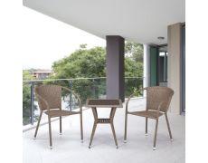 Комплект плетеной мебели из искусственного ротангаT25B/Y137C-W56 Light brown 2Pcs