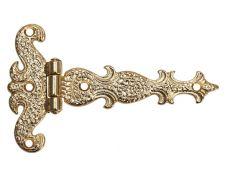 Петля декоративная, отделка золото 24