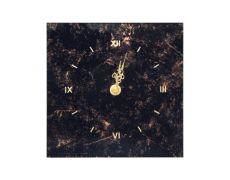 Подставка с часами, 156х156 мм, стекло черное