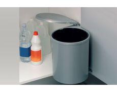 Ведро для мусора (13л), пластик серый металлик