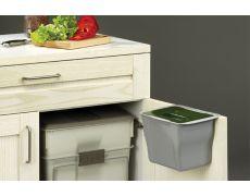 Контейнер (5л), пластик серый с зелёной крышкой