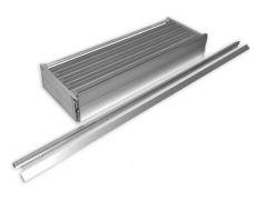 Набор BOXMILANO для каркаса 1280*900 (ДСП 16мм), отделка алюминий натуральный с перфорацией