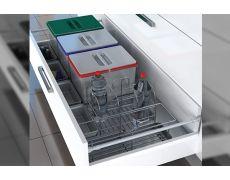 Набор емкостей в базу 1200 для бытовой химии и раздельного сбора мусора