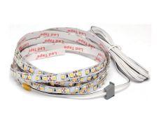 Комплект для профиля 1506: LED лента SMD3528, 120 LED/м, 9,6Вт/м, 12В, 840-960Лм./м 1000х8 мм, IP 20, 6000К (холодный белый) с каб