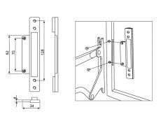 Дополнительное крепление к алюминиевой рамке, для подъёмника Vela 720
