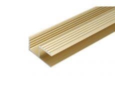 Профиль-ручка для 16мм, L=3000мм, отделка золото шлифованное