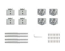 Tongo H2 Комплект фурнитуры для 2-х дверей, с 4 доводчиками