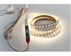 Комплект LED лента SMD2835, 4200K(нейтральный белый), 1000х8 мм с сенсорным выкл., каб. питания 2м, 120 LED/м, 12Вт/м, 12В, 1080Лм