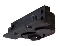 Регулируемая колёсная опора, левая, отделка чёрная