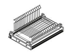 Сушка 1-уровневая в базу 450/18, отделка сталь, поддон сталь