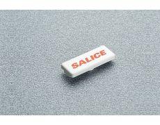 Накладка на плечо петли с логотипом SALICE, белый пластик
