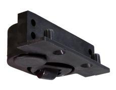 Регулируемая колёсная опора, правая, отделка чёрная