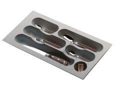 Ёмкость в базу 300 для столовых приборов, цвет серый металлик