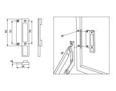 Дополнительное крепление к алюминиевой рамке, для подъёмника Vela 360 и Vela 440