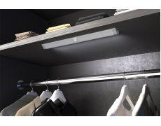 Профиль-светильник LED Lontano, 550 мм, 5W/12V, 4500K(нейтральный белый), накладной, с датчиком движения, отделка алюминий, кон-р