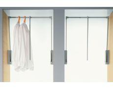 Лифт для одежды, отделка серая