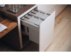 Система хранения выкатная, в базу 900, H298 (4 ведра +2 контейнера), отделка пластик серый