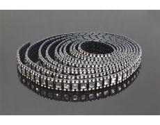 Тесьма декоративная в рулоне 9150 мм, отделка черная + горный хрусталь