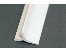 Профиль ПВХ под пропил для крепления витражей, L=4000, отделка белый UN0610