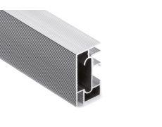 Профиль для нижних баз, L=2650мм, отделка рифленый алюминий