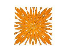 Комплект декоративных панелей DAISY 254х254мм (6 штук), отделка оранжевая