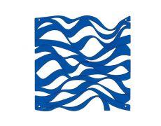 Комплект декоративных панелей ONDA 254х254мм (6 штук), отделка голубая