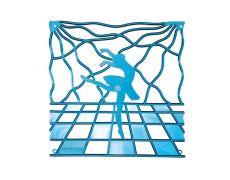 Комплект декоративных панелей SCILLA 254х254мм (6 штук), отделка голубая