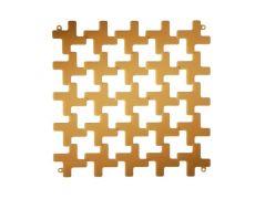 Комплект декоративных панелей MONTENAPOLEONE 254х254мм (6 штук), отделка янтарь