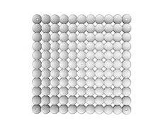 Комплект декоративных панелей TIMESQUARE 254х254мм (6 штук), отделка транспарент