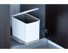 Ведро для мусора (16л) выдвижное, пластик белый