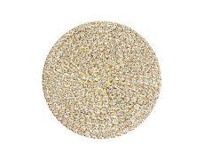 Накладка декоративная круглая d.42, отделка золото + горный хрусталь