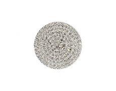 Накладка декоративная круглая d.30, отделка никель + горный хрусталь