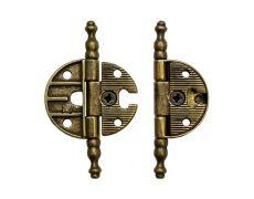 Петля декоративная врезная, отделка бронза античная