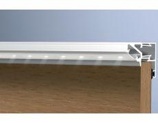Профиль для LED подсветки, L=4100мм, отделка алюминий