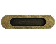 Ручка врезная 150мм, отделка бронза античная
