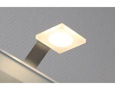 Светильник LED Quadro S, 3W/12V, 4500K, отделка акрил матовый/алюминий