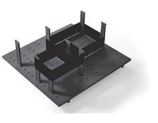 Многофункциональная панель в базу 600 (8 разделителей+2 ленты), для ящика Ten 500, отделка орион серый