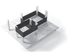 Многофункциональная панель в базу 600 (8 разделителей+2 ленты), для ящика Ten 500, отделка белая