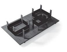 Многофункциональная панель в базу 900 (12 разделителей+3 ленты), для ящика Ten 500, отделка орион серый