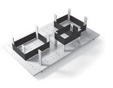 Многофункциональная панель в базу 900 (12 разделителей+3 ленты), для ящика Tandembox 500, отделка белая