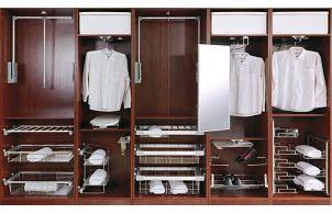 Системы наполнения для шкафов-купе, гардеробных