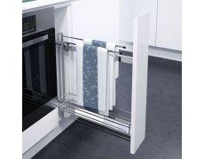 Выдвижная система с держателем полотенец, ширина 150мм