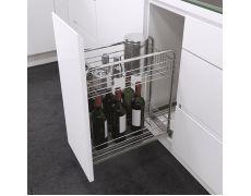 Выдвижная система для бутылок, ширина 400мм
