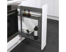 Выдвижная система DSA высотой 635 мм в корпус 150 мм, корзины Premea Artline, цвет Lava Gray
